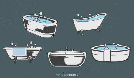 Conjunto de banheira vintage