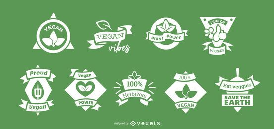 Vegan badge set