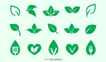 Vegane und vegetarische Icon-Set