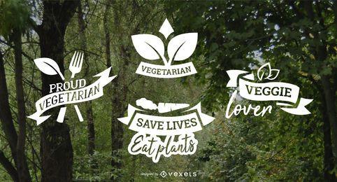 Pacote de emblemas vegetarianos