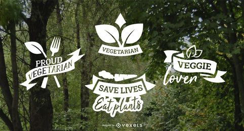 Vegetarian badges pack