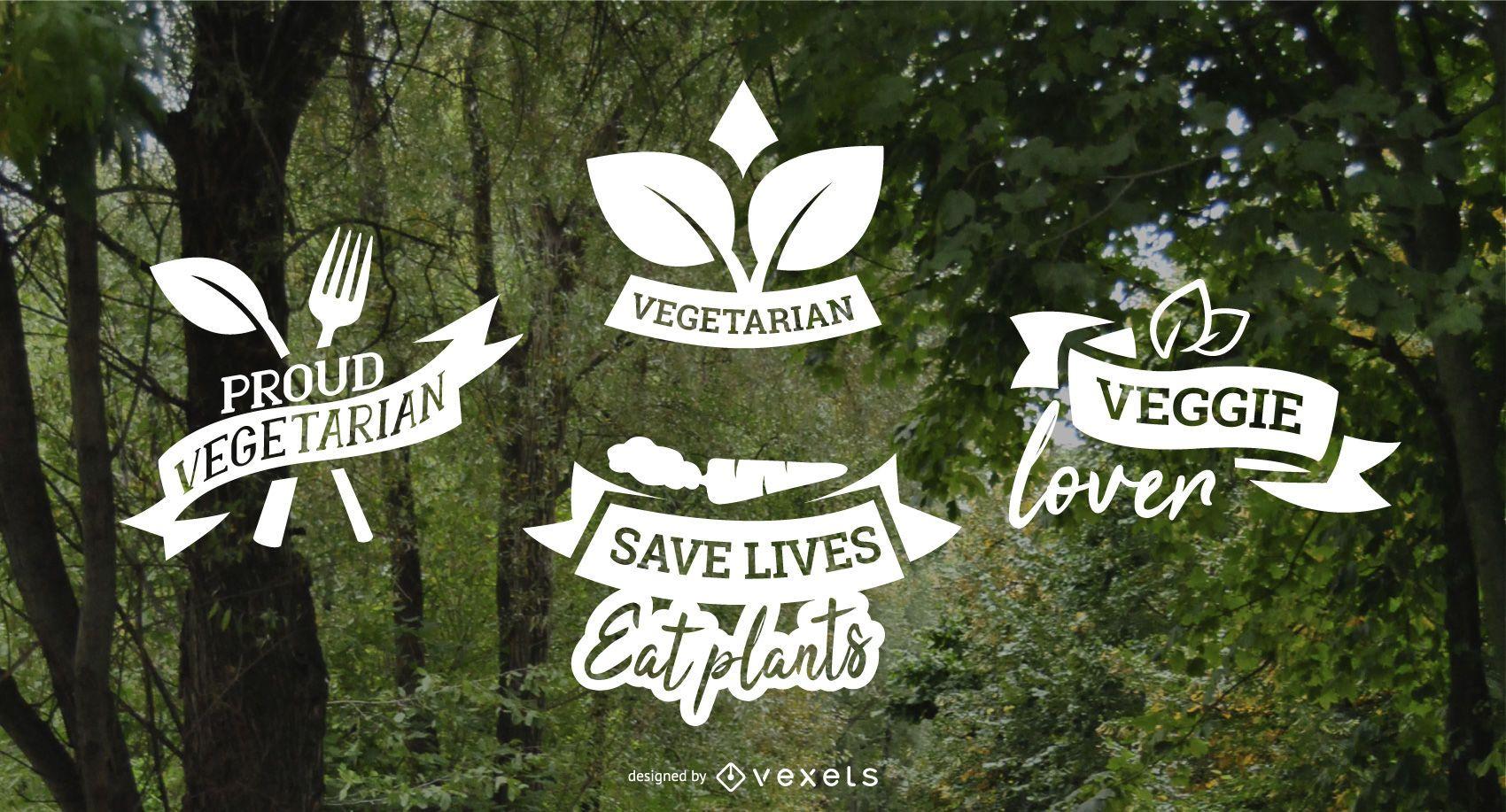Vegetarian badges pack