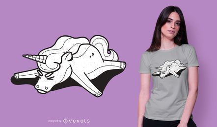 Tired unicorn t-shirt design