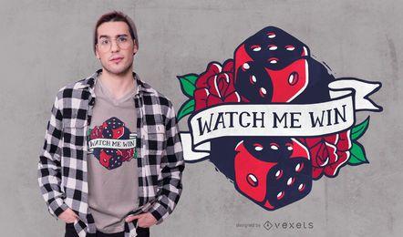 Assista me ganhar design de t-shirt