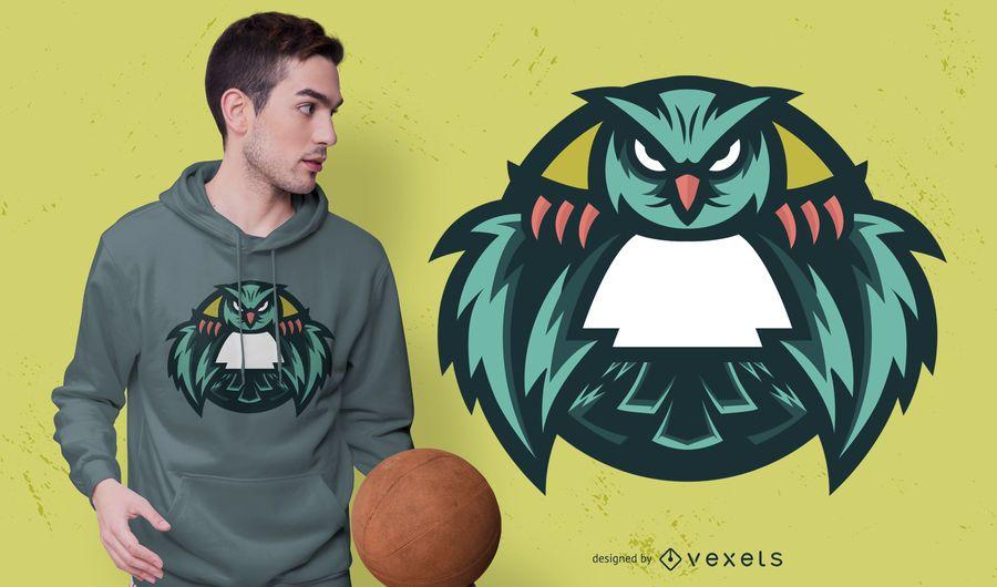 Design de t-shirt de coruja