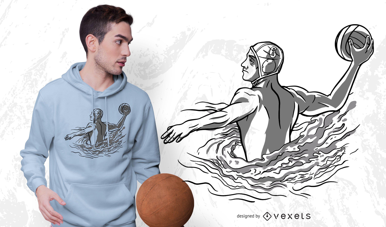Water polo t-shrit design