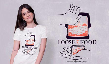 Diseño de camiseta de cotización de arroz