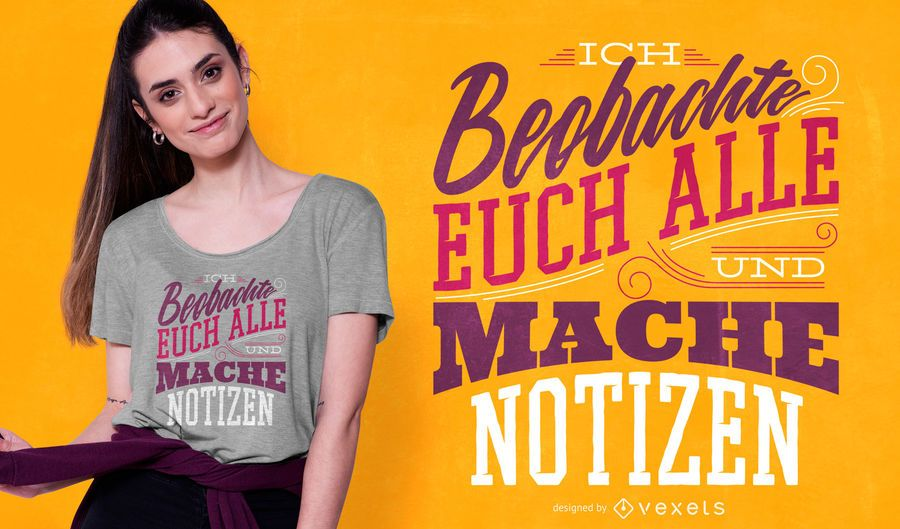 German quote lettering t-shirt design