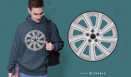 Diseño de camiseta con borde de rueda