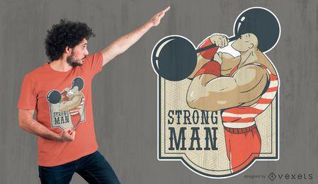 Design de camiseta de homem forte