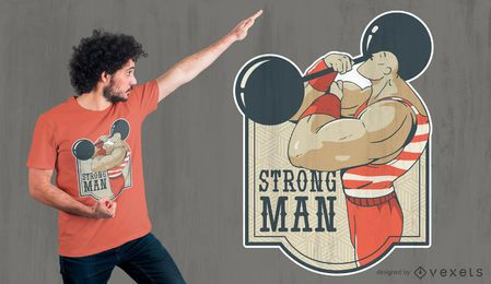 Strong man t-shirt design