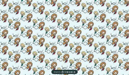 Diseño de patrón de sirena pixelada