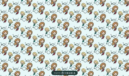 Pixelated mermaid pattern design