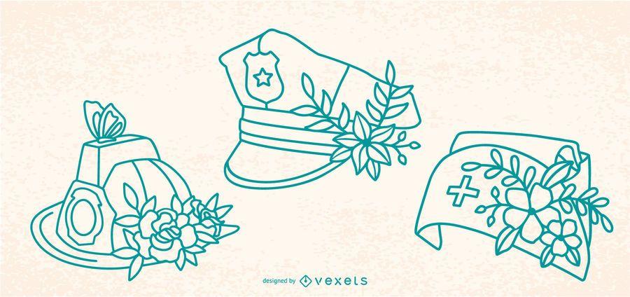 Ersthelfer Schlaganfall Blumenhüte