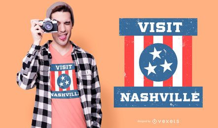 Diseño de camiseta de Nashville