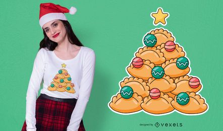 Design de t-shirt de pastree de Natal