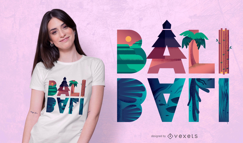 Diseño de camiseta de Bali