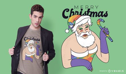 Drag queen santa t-shirt design