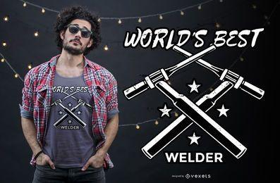 Diseño de camiseta de cita de soldador