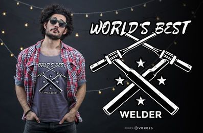 Welder t-shirt design