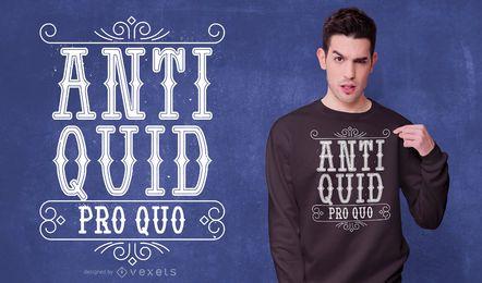 Anti-design de t-shirt de citação