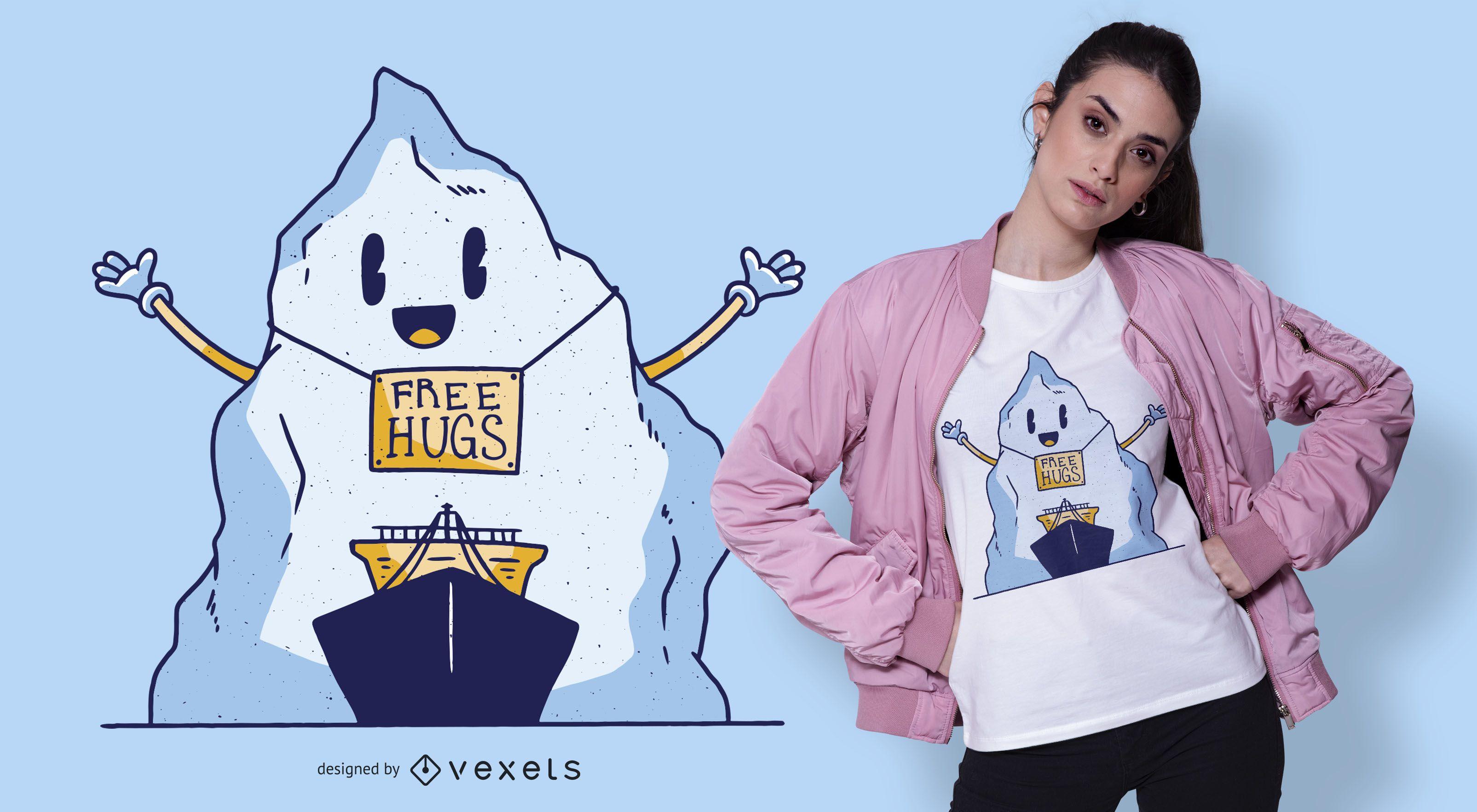 Diseño de camiseta de abrazos gratis iceberg