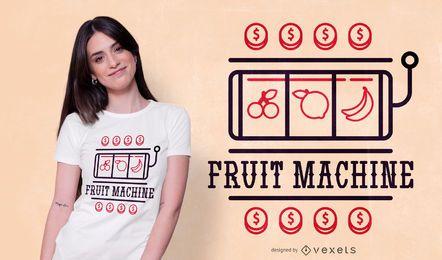 Diseño de camiseta de máquina de frutas.
