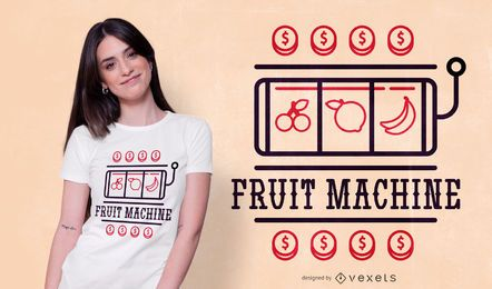 Fruit machine t-shirt design