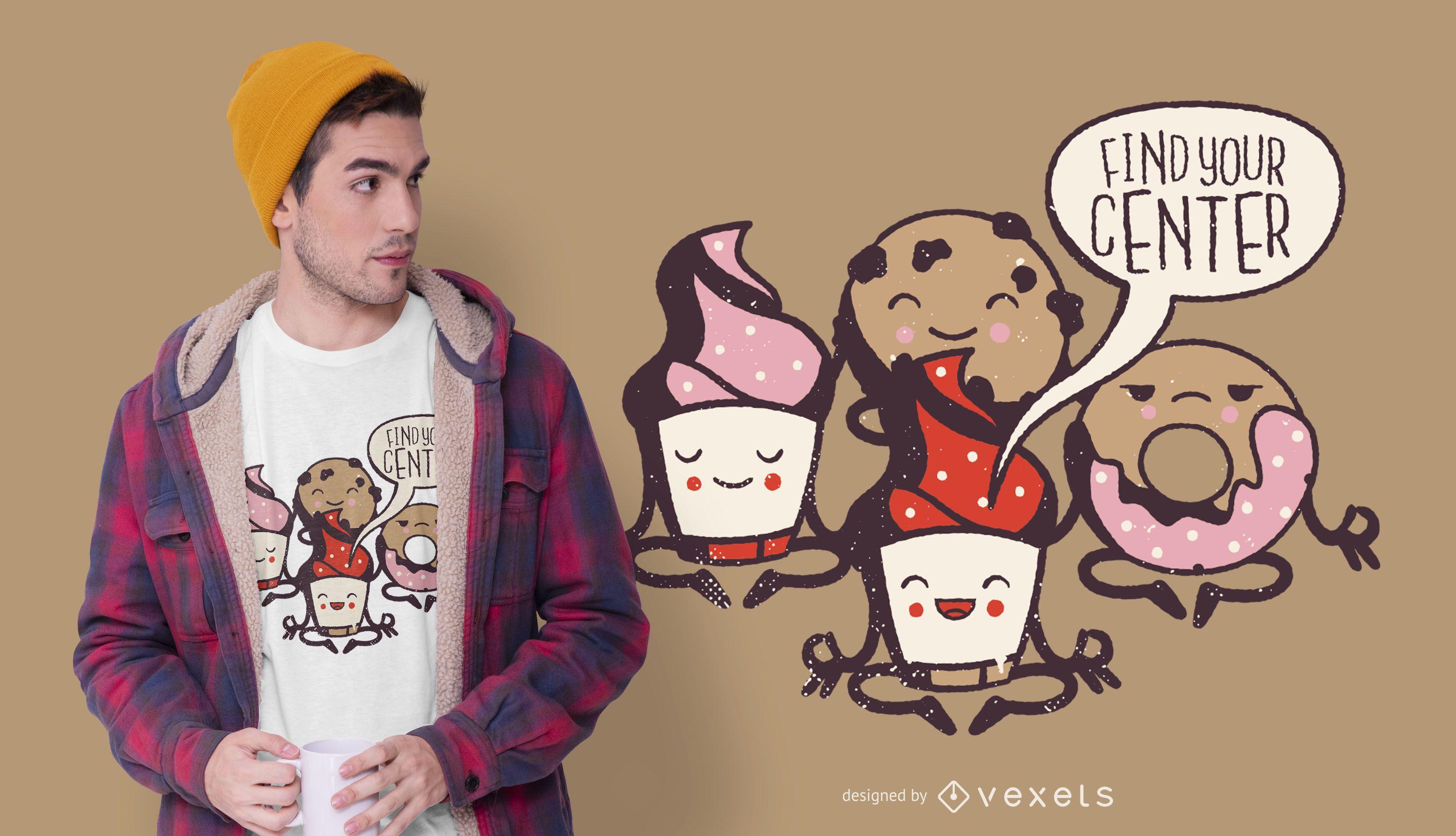 Yoga pastries t-shirt design