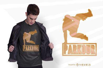 Diseño de camiseta Parkour Jump