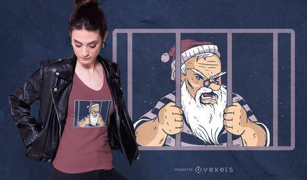 Diseño de camiseta de la prisión de santa