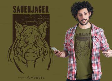 Design de camiseta alemã Sauenjäger