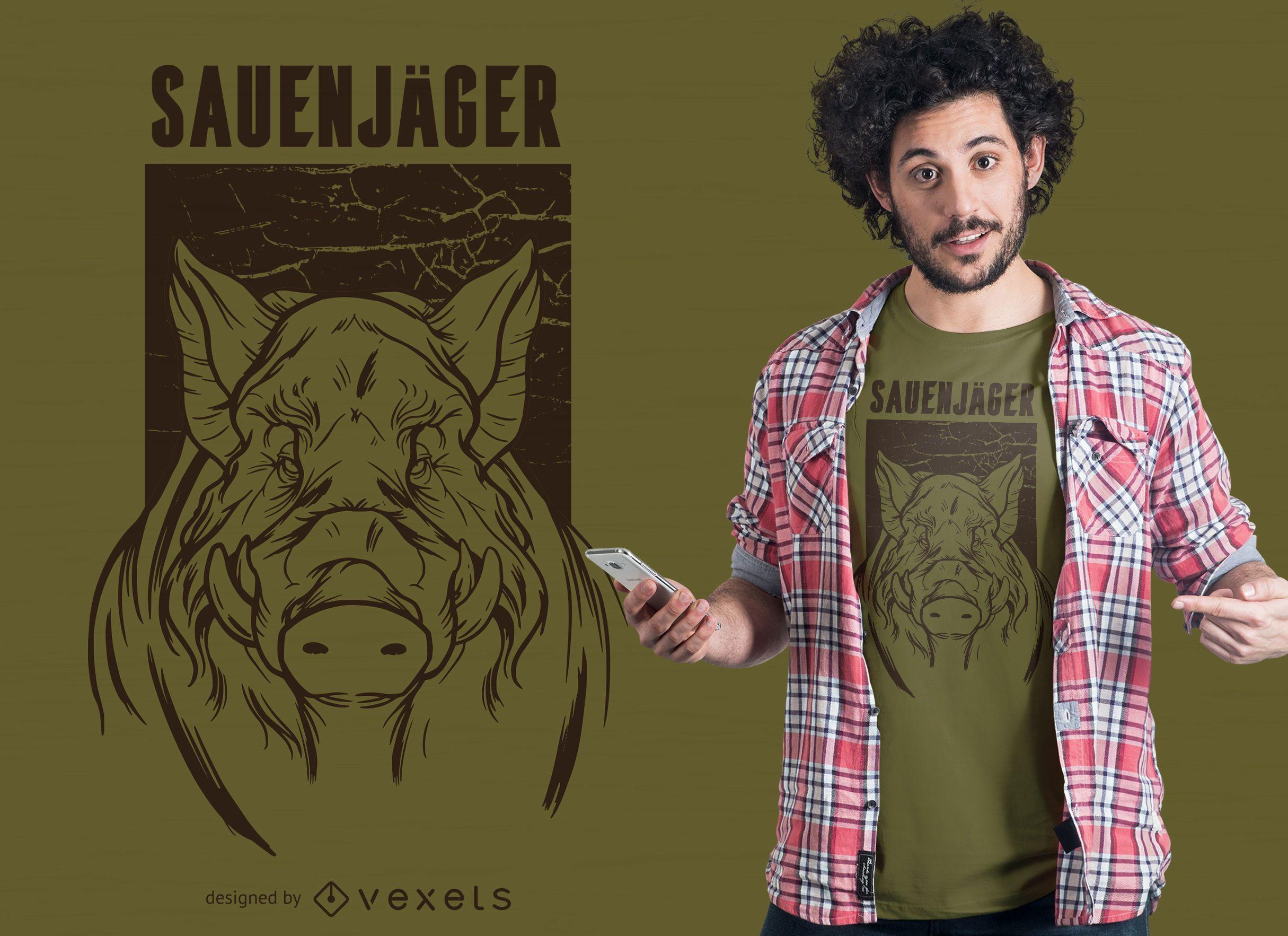 Diseño de camiseta alemana Sauenjäger
