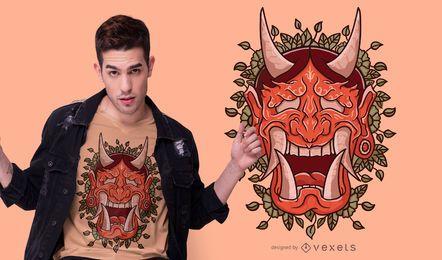Diseño de camiseta de máscara de demonio