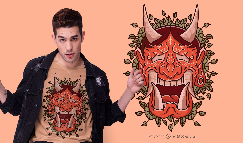 Demon mask t-shirt design