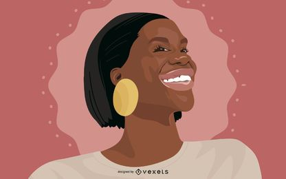 Black Woman Portrait Illustration