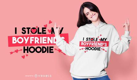 Boyfriend's hoodie t-shirt design