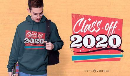 Diseño de camiseta clase de 2020