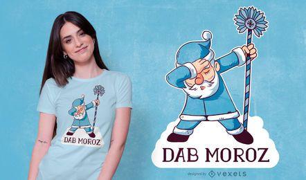 Diseño de camiseta rusa santa