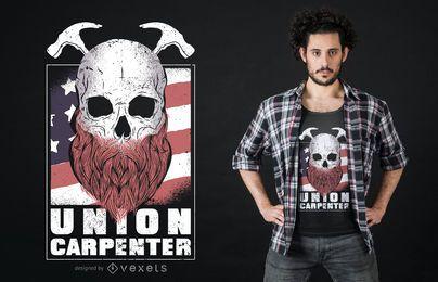 Design de t-shirt de carpinteiro da União