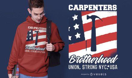 Diseño de camiseta de la Hermandad de Carpinteros