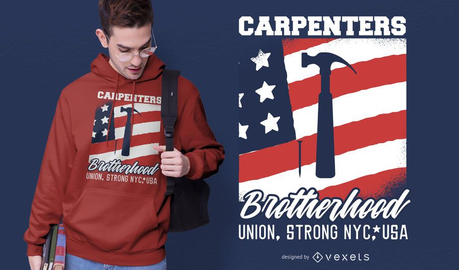 Carpenters Brotherhood T-shirt Design