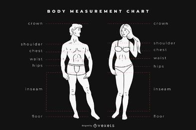 Body Measurement Chart Graphic