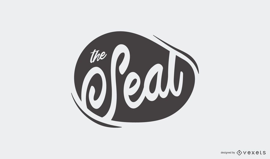 Seal Blot Stamp Logo Design