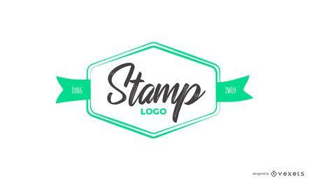Design de logotipo personalizado de carimbo