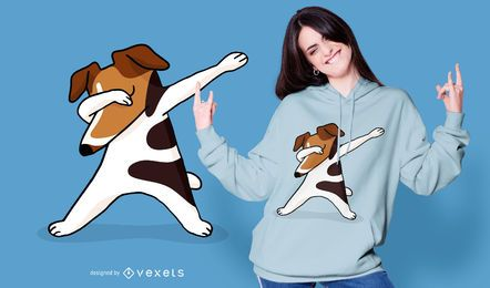 Diseño de camiseta dabbing Terrier