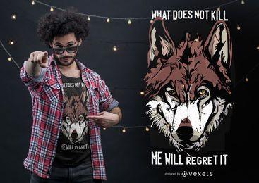 Diseño de camiseta de cita de lobo