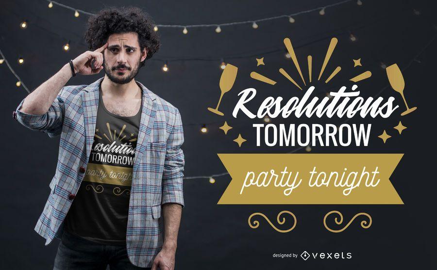 Resoluções de ano novo design de t-shirt