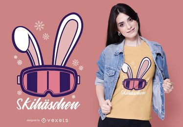 Ski Bunny Deutsches T-Shirt Design