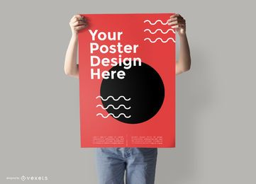 Plantilla de maqueta de póster